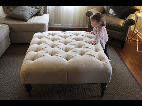 Diy Fabric Ottoman Coffee Table YouTube