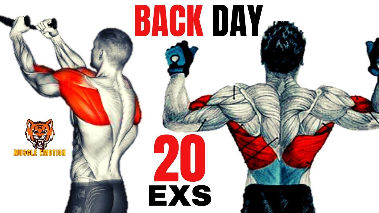 20 BEST BACK EXERCISES TO GET BIGGER BACK FAST / MUSCULATION DOS RÉSULTAT RAPIDE