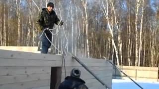видео Проект дома из бруса 7 на 9 - Кострома -