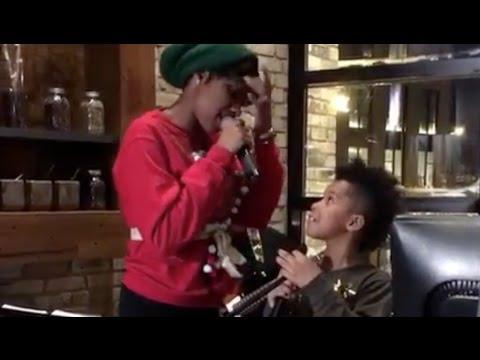 WATCH Jennifer Hudson and David Otunga Son Sing CHRISTMAS Carols & Take You to CHUCH with the Fam!!