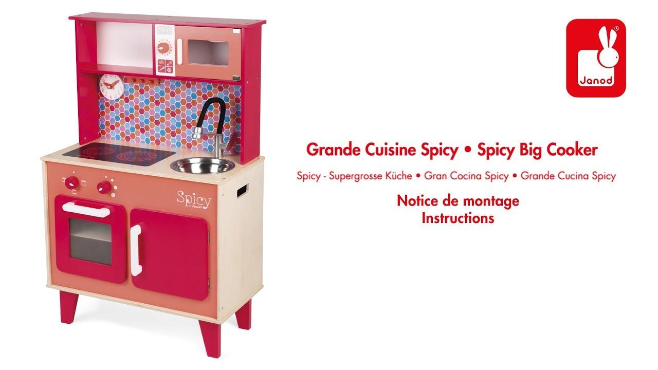 Cuisine Spicy - Janod - Notice de montage - YouTube