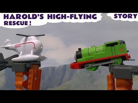 Thomas and Friends Harold's High Flying Rescue Play Set Story Trackmaster Train Thomas Y Sus Amigos