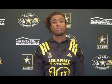 James Cook Army AllAmerican Bowl Highlights 2018  UGA Commit  RareBreed18
