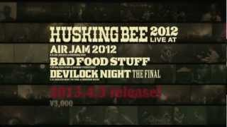 HUSKING BEE NEW DVD「HUSKING BEE 2012 LIVE at AIR JAM2012, BAD FOOD...
