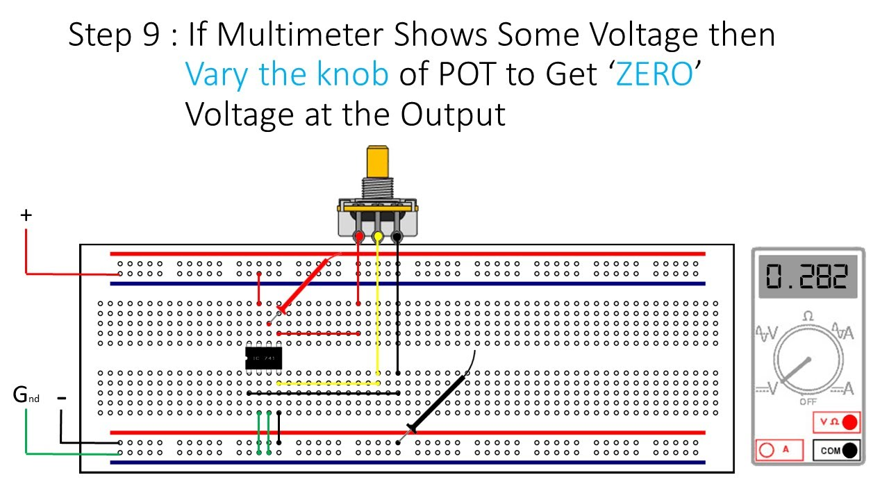 How To Do Offset Null Adjustment In Op Amp Youtube Single Power Supply