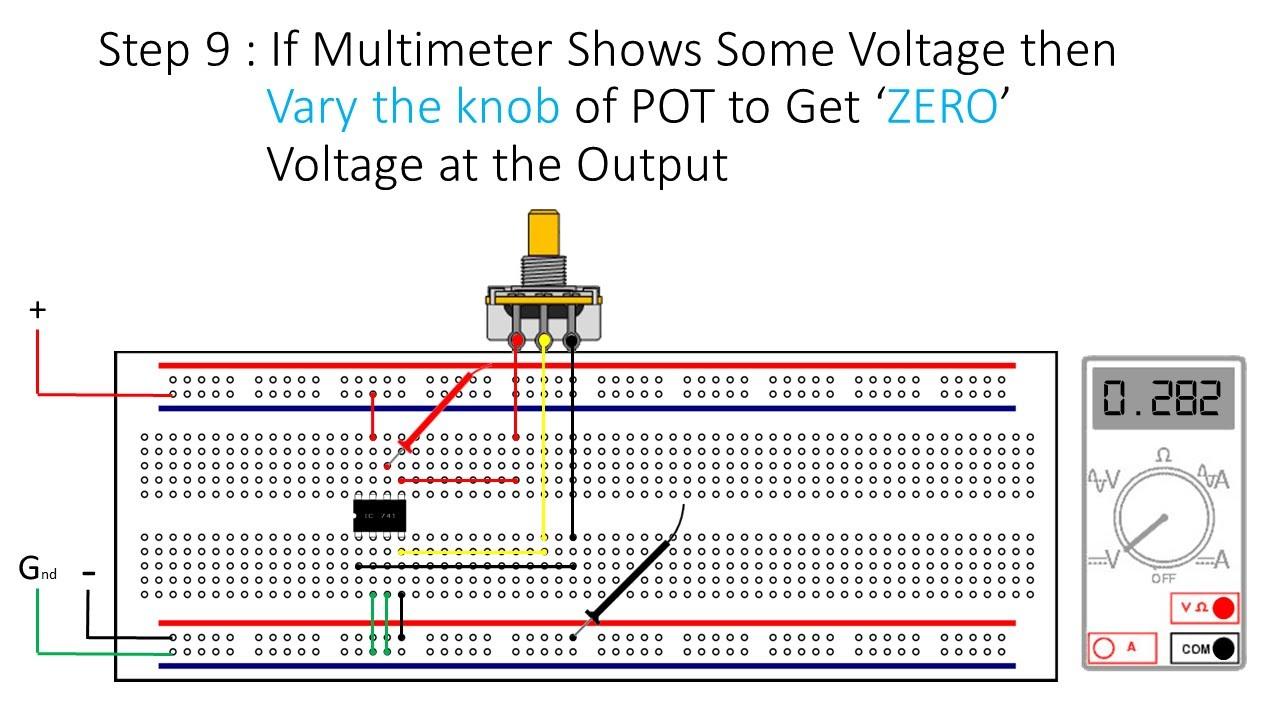 circuit diagram of 741 op amp [ 1280 x 720 Pixel ]