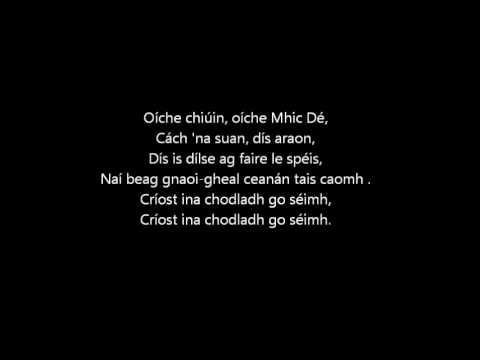 Irish Christmas Carol Oíche Chiúin
