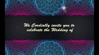 Indian Wedding invitation video | Wedding Invitation Video | Free & Blank Video 0224