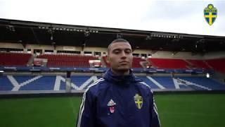 Jordan Larsson och det svenska U21-landslaget är tillbaka i Helsingborg!