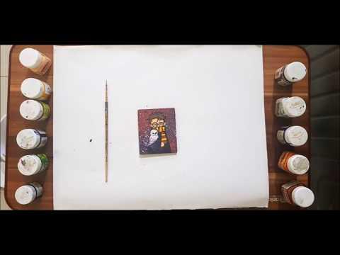 DIY Fridge Magnets   Hand painted Harry Potter fridge magnet