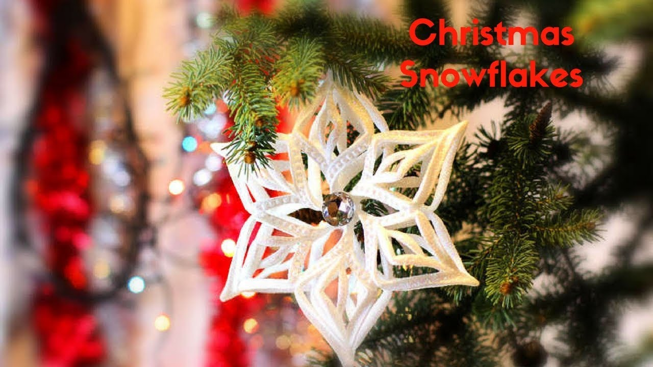 christmas decorating ideas how to make ribbon snowflakes for christmas tree decoration - Christmas Decoration Ideas To Make