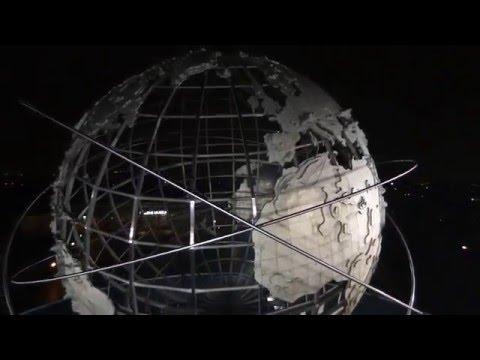 Flushing Meadows Park New York Unisphere Globe Drone Bebop Footage 1