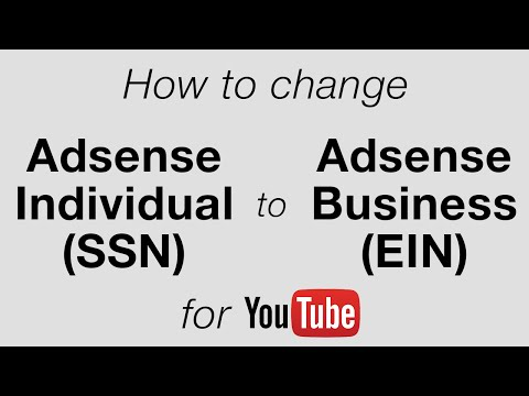 How To Change YouTube Adsense From Individual to Business • 6.25.16