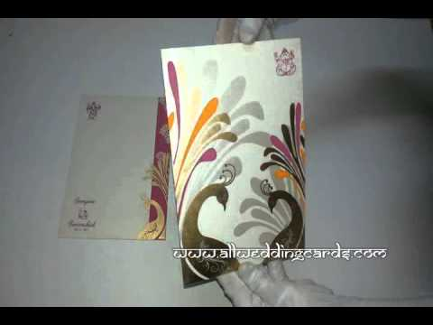 W-4480,250 GSM,  Matte Ivory Paper, Traditional Indian Wedding Cards