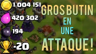 1.000.000 D'OR EN UNE ATTAQUE - Clash Of Clans