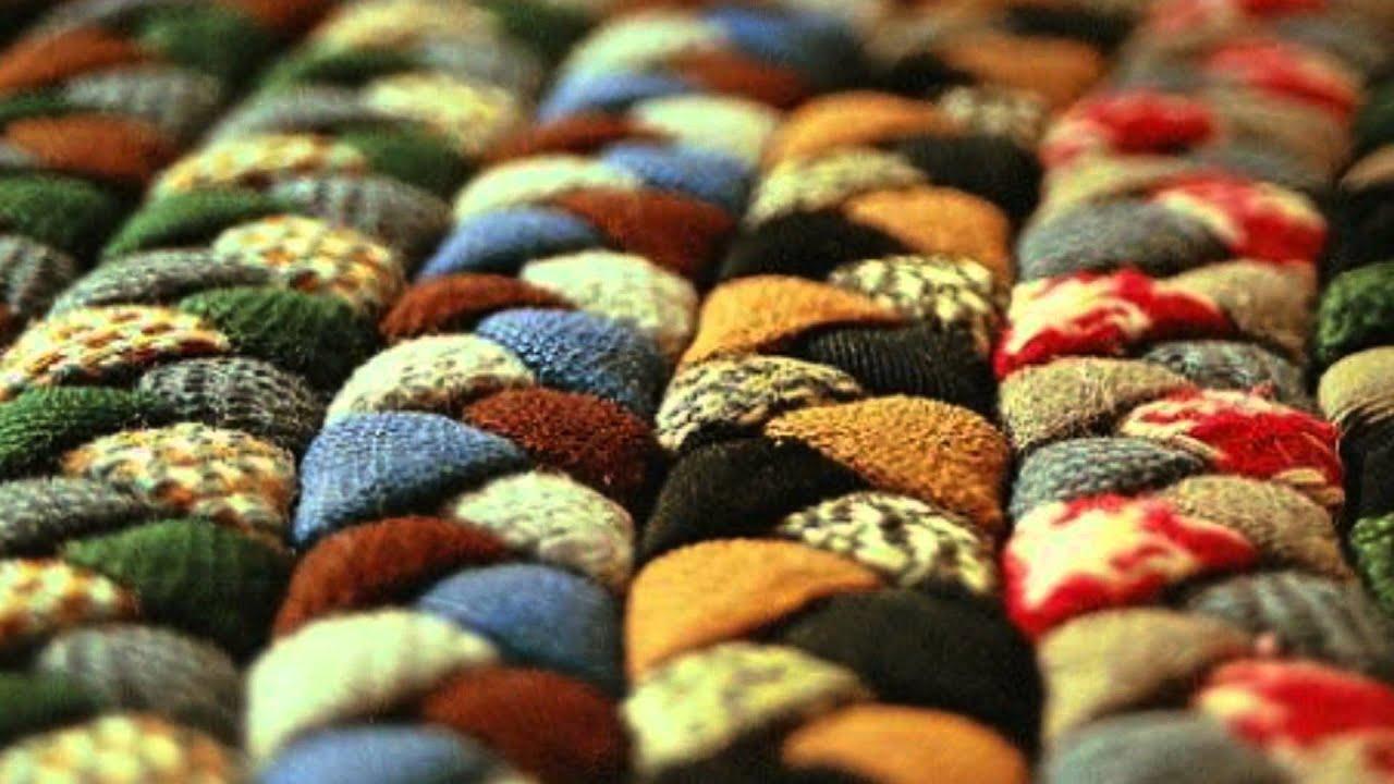 How To Make A Braided Wool Rug Youtube
