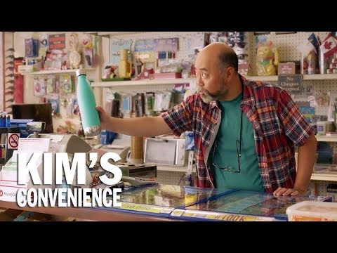 What's the deal with water bottles?  Kim's Convenience