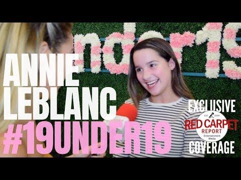 Annie LeBlanc interviewed at TigerBeat & Instagram's 3rd Annual #19Under19 Celebration