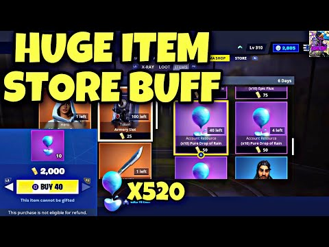 INSANE ITEM SHOP BUFF| 520 PURE DROPS OF RAIN EASY| FORTNITE SAVE THE WORLD