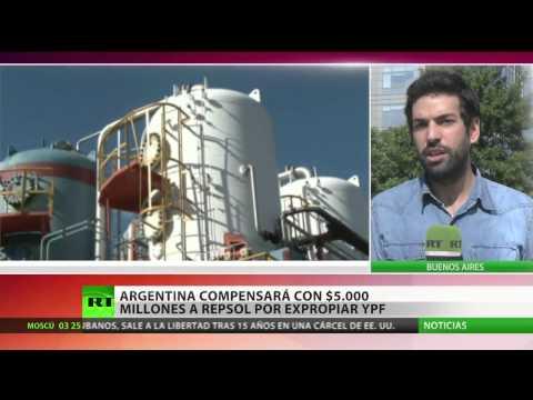 Argentina firma pacto compensatorio con Repsol por expropiación de YPF