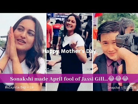 Jassi Gill Snapchat | Sonakshi made  April fool of him - 13/5/2018