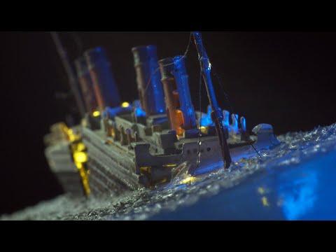 Titanic Scale Model Sinking Diorama