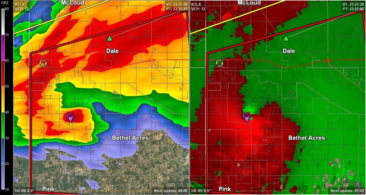 El Reno Oklahoma >> Doppler Radar - Shawnee Oklahoma Tornado - May 19, 2013 - YouTube