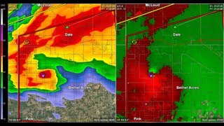 Doppler Radar - Shawnee Oklahoma Tornado - May 19, 2013