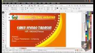 Repeat youtube video Membuat kartu nama dengan corelDraw