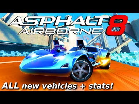 HOT WHEELS CARS!?! Asphalt 8: Hot Wheels Update - vehicle stats & other info