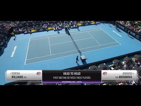 Serena Williams - Amanda Anisimova SF (Auckland) - Full