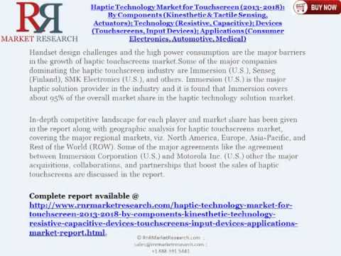 Global Haptic Technology Industry Sensors Analysis to 2014 and 2018 Forecasts