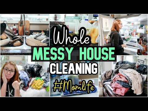 ULTIMATE MESSY HOUSE TRANSFORMATION | NEW ALL DAY WHOLE HOUSE CLEAN WITH ME 2019 | SAHM MOTIVATION