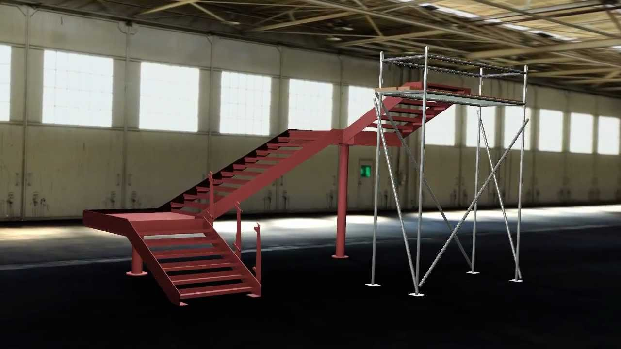3D CAD Animation   Feature Steel Staircase Design U0026 Fabrication   YouTube