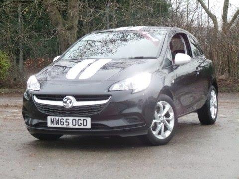2015 65 Vauxhall Corsa 1.2 16V Sting 3dr In Black