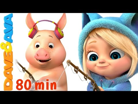 🐷 This Little Piggy | Nursery Rhymes Collection | Nursery Rhymes and Kids Songs from Dave and Ava 🐷