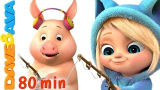🐷 This Little Piggy | Nursery Rhymes Collection | Nursery Rhymes and Kids Songs from Dave and Ava 🐷 thumbnail