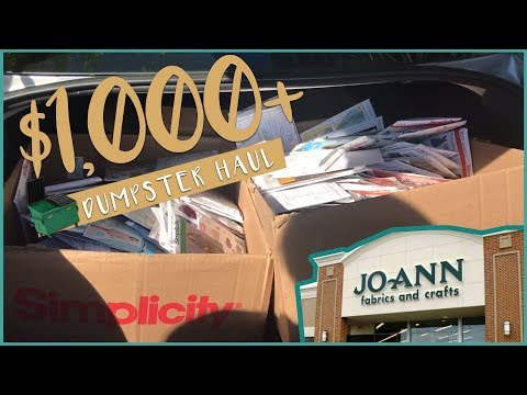 Dumpster Diving $1,000+ JOANN Fabric DIVE HAUL