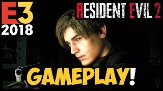 RESIDENT EVIL 2 REMAKE - 17 min de GAMEPLAY ÉPICO!! + React #E32018