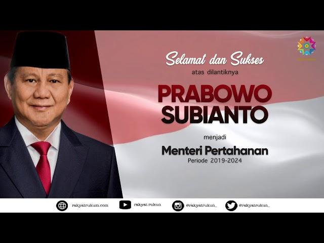 Terimakasih Bapak Ryamizard Ryacudu dan Selamat Datang Bapak Prabowo Sebagai Menteri Pertahanan