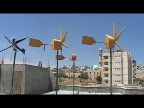 Home made wind generators in Palestine