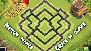Diseño de aldea ayuntamiento 8 (Guerra de clanes/Proteger copas)-TH8 War Base-Clash of clans #57