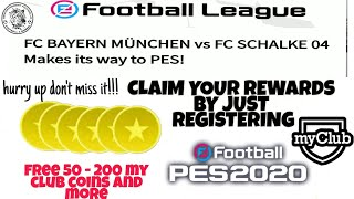 Get free coins by Pes 2020 official || register and earn Pes 2020 official || full details ||