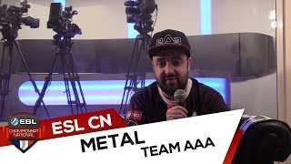 Interview MetaL - against All authority (Finales Championnat National Winter 2017)