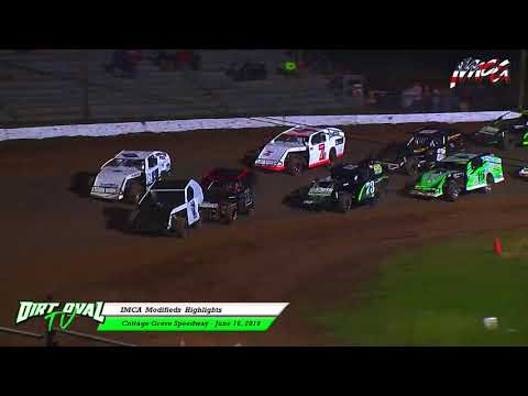 6 16 18 Cottage Grove Speedway IMCA Modifieds Highlights