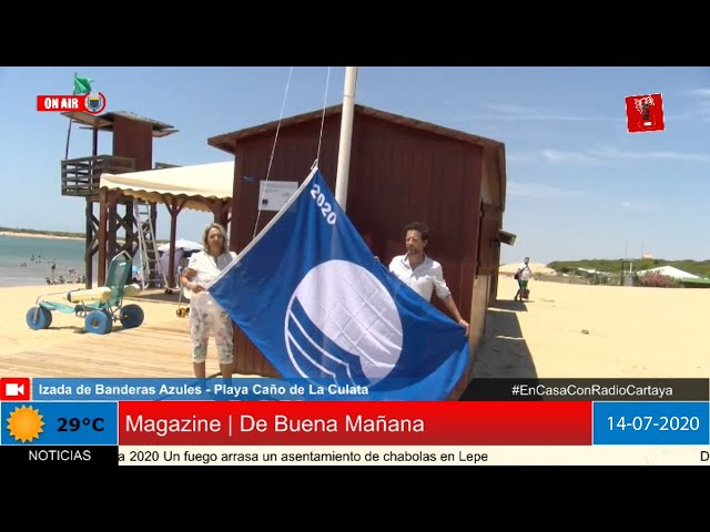 Radio Cartaya | Izada de Bandera Azul en el Caño de la Culata
