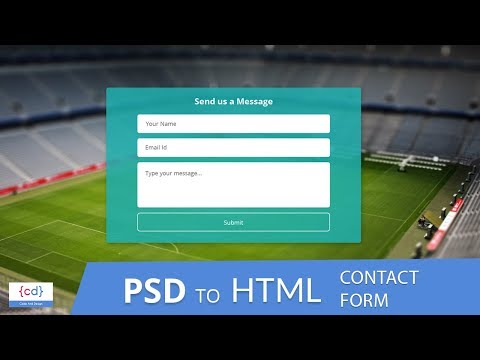 Contact Us Form    PSD To HTML    HTML Form