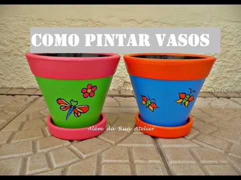 Maceta pintada doovi for Como pintar jarrones de ceramica