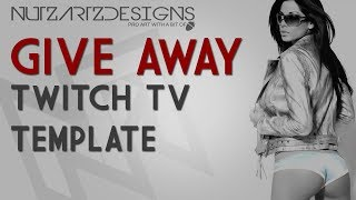 Repeat youtube video NutzArtz | Twitch TV | FREE! Background Template.