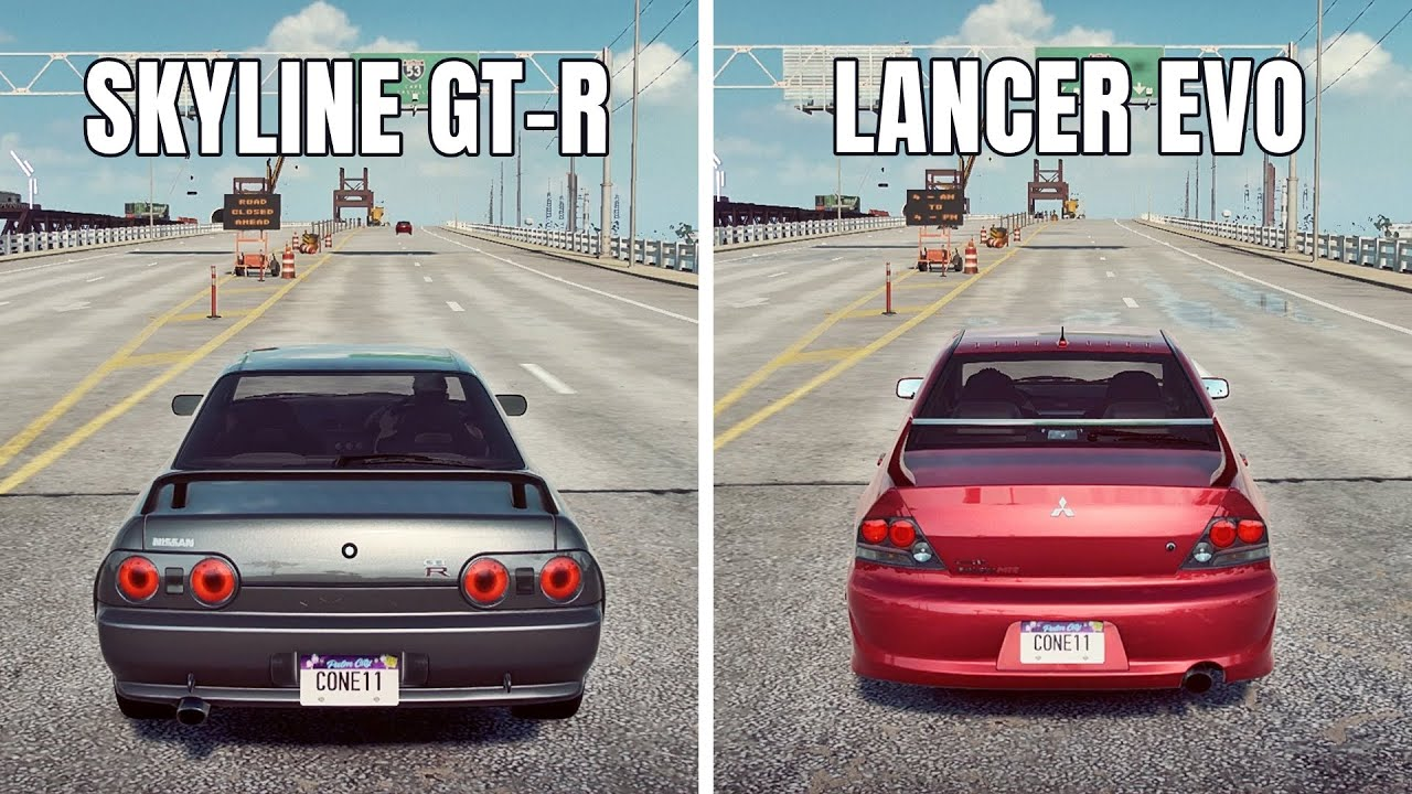 NFS Heat: MITSUBISHI LANCER EVO IX VS NISSAN SKYLINE GT-R R32 (WHICH IS FASTEST?)